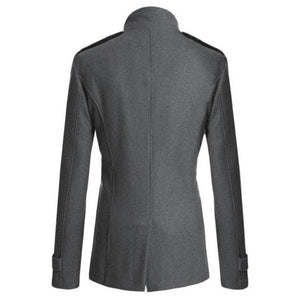 Men's Woolen Casual Slim Fit Social Business Suits Coat