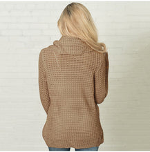 Load image into Gallery viewer, Women's Scarf Collar Solid Warm Knitted Sweaters