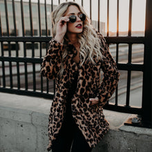 Load image into Gallery viewer, Women's Leopard 2018 High Quality Faux Fur Coat