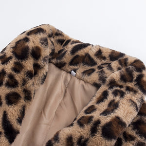 Women's Leopard 2018 High Quality Faux Fur Coat