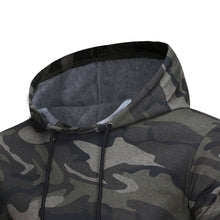 Load image into Gallery viewer, Mens' Long Sleeve Camouflage Hooded Sweatshirt