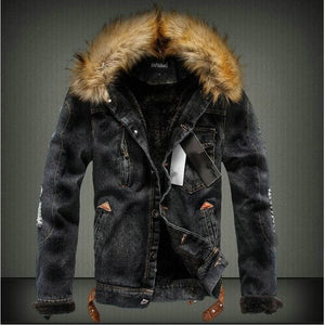 Men's Warm Thick Jeans Jackets