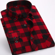 Load image into Gallery viewer, Men's Plaid Flannel Shirts Long Sleeve