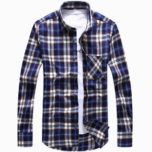 Men's Plaid Flannel Shirts Long Sleeve