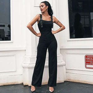 Women's Glamaker Black High Waist Jumpsuit