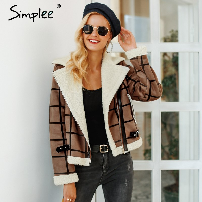 Women's Fur Jacket Turn-down Collar Overcoat