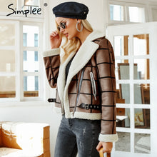 Load image into Gallery viewer, Women's Fur Jacket Turn-down Collar Overcoat