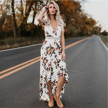 Load image into Gallery viewer, Women's Sexy Deep V-Neck Backless Summer Dress Floral Print