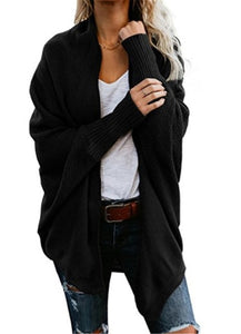 Women's Cardigan Patchwork Batwing Sweater