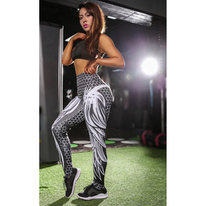 Women's 2018 New Fashion Honeycomb Skull Sport Legging