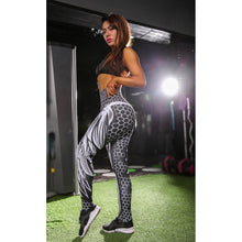 Load image into Gallery viewer, Women's Fashion Honeycomb Skull Sport Legging