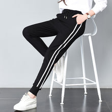 Load image into Gallery viewer, Women's Long Leisure Pants Double Striped Jogger