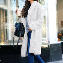 Load image into Gallery viewer, Woman's Artificial Wool Coat Lapel Outerwear Jackets