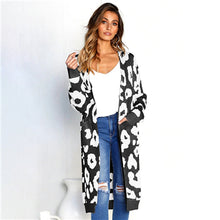 Load image into Gallery viewer, Women's Cardigan Long Leopard Sweater 6 Colors