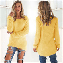 Load image into Gallery viewer, \Women's Knitted Pullover O Neck Loose Sweater