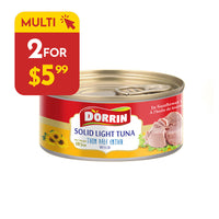 Dorrin Solid Light Tuna (in Sunflower Oil) Pack of 2
