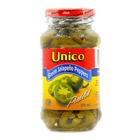 Unico Green Jalapeno Peppers 375 ml