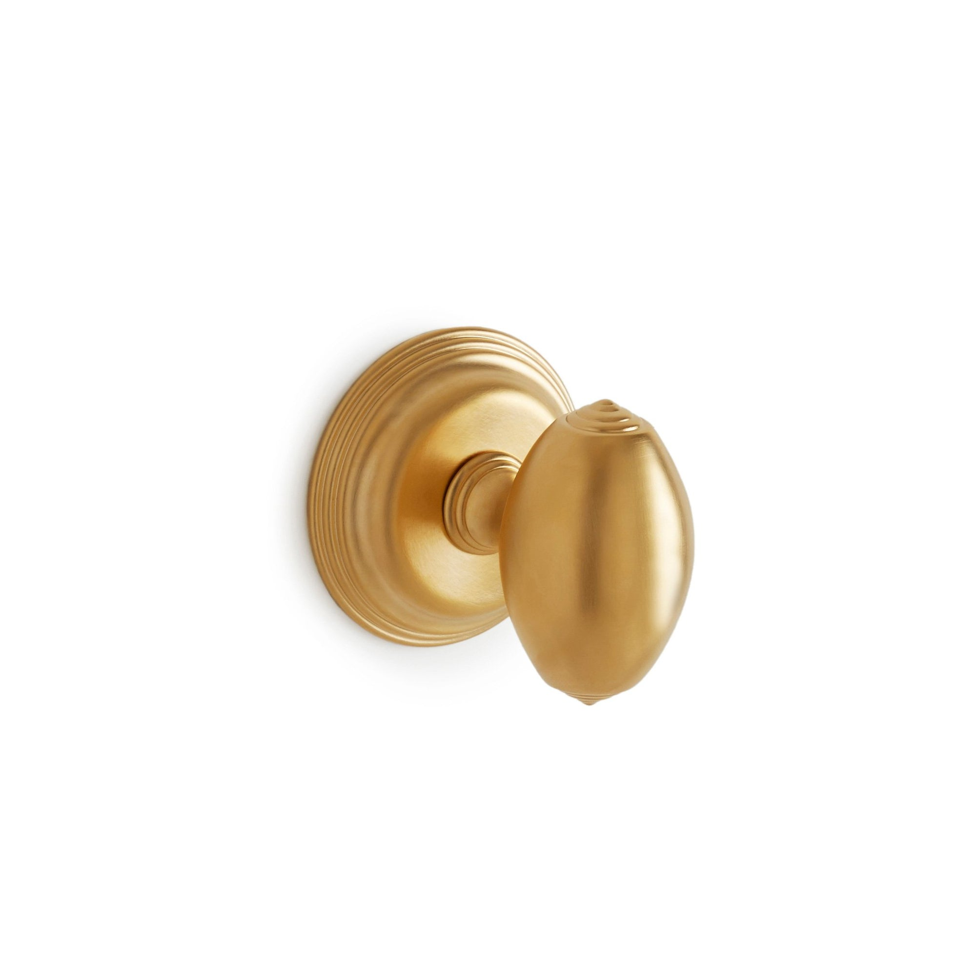 0016DOR-GP Sherle Wagner International Grey Oval Door Knob in Gold Plate metal finish
