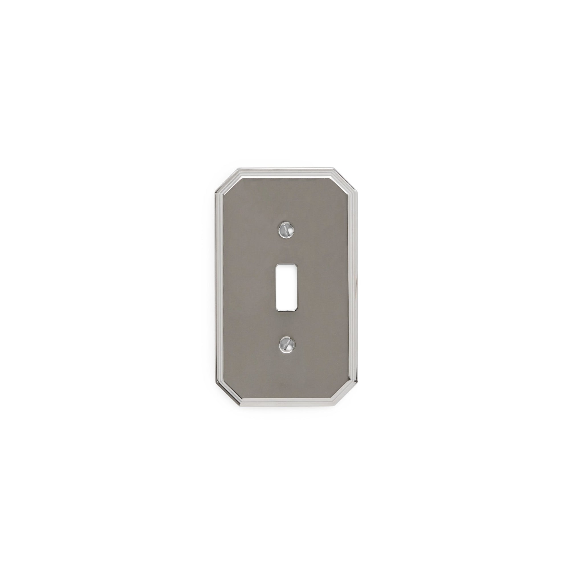 0035-SWT-CP Sherle Wagner International Harrison Single Switch Plate in Polished Chrome metal finish