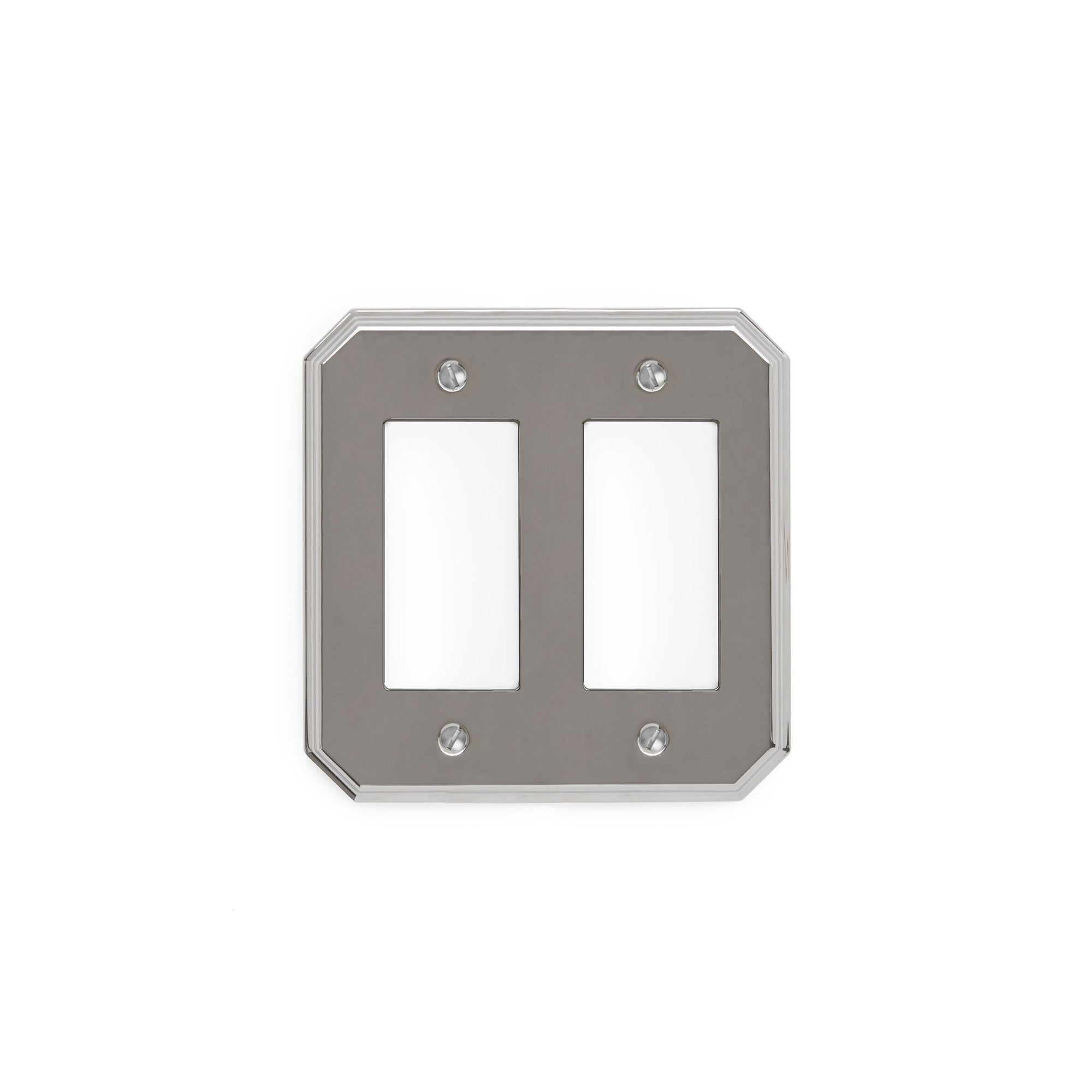 0035D-DEC-CP Sherle Wagner International Harrison Double Decora/GFI Plate in Polished Chrome metal finish