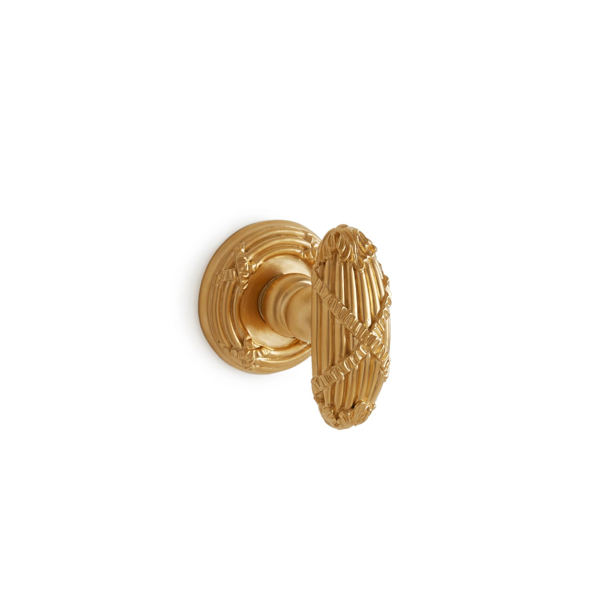 0055DOR-GP Sherle Wagner International Ribbon & Reed Door Knob in Gold Plate metal finish
