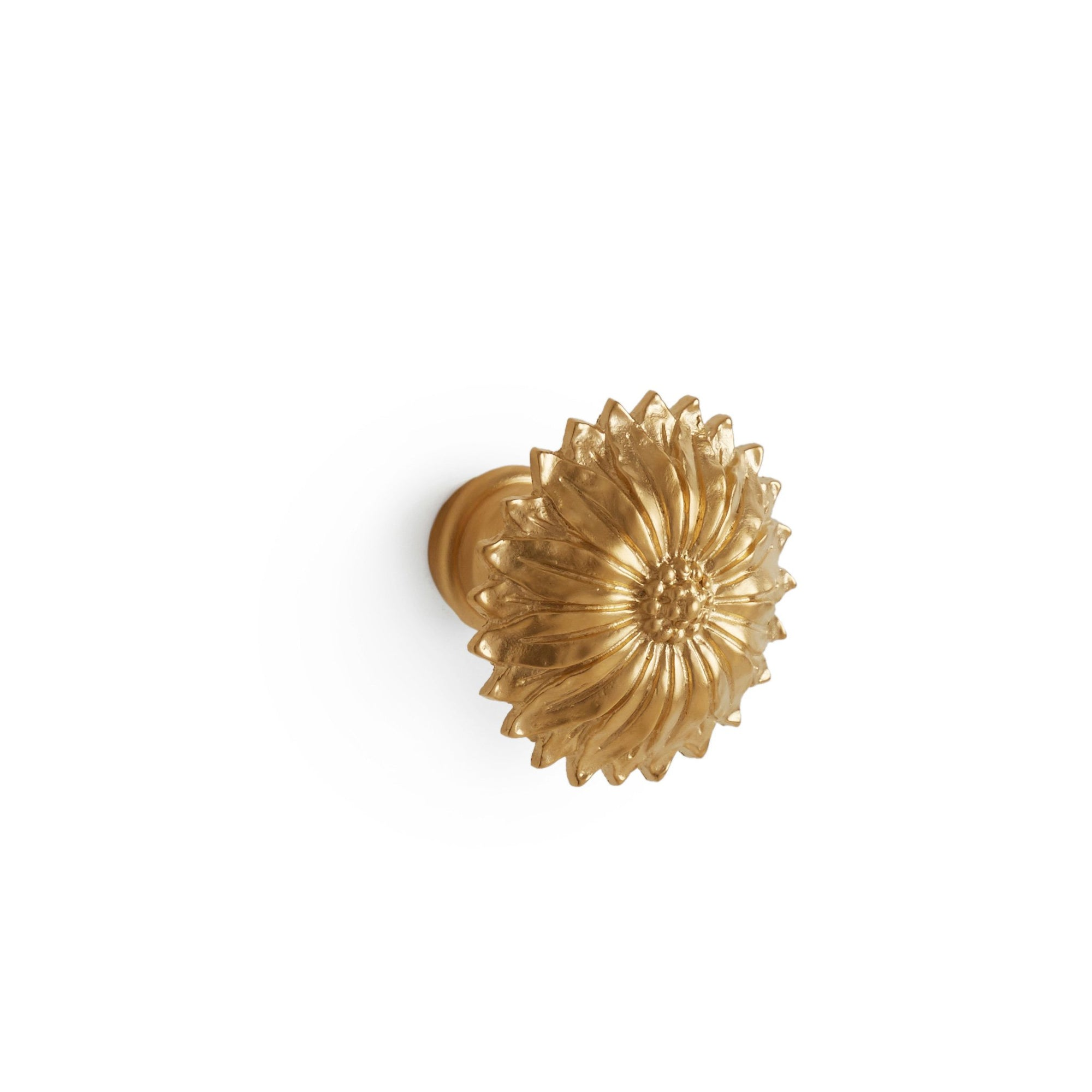 0068-GP Sherle Wagner International Acanthus Rosette Cabinet & Drawer Knob in Gold Plate metal finish