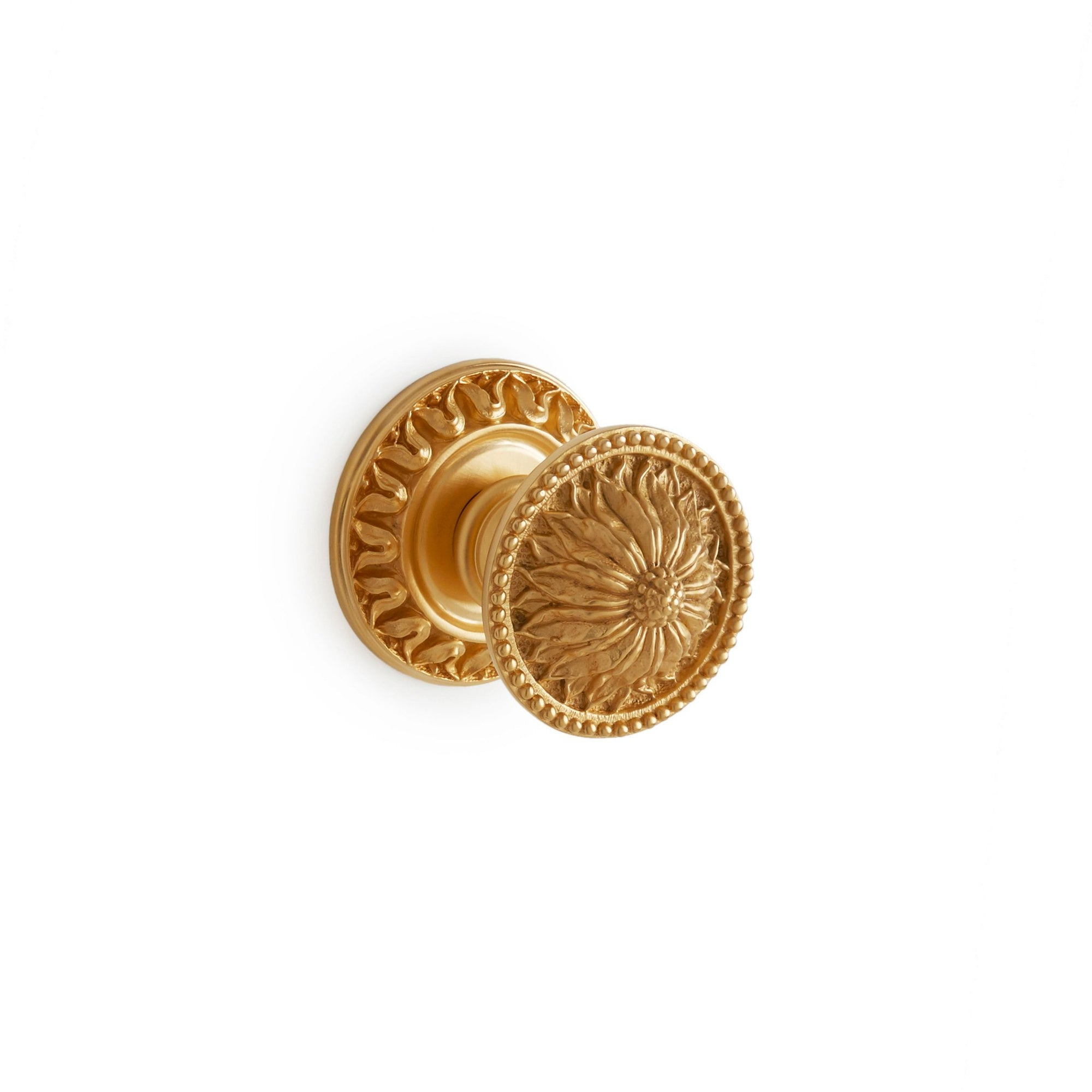 0077DOR-GP Sherle Wagner International Acanthus Door Knob in Gold Plate metal finish