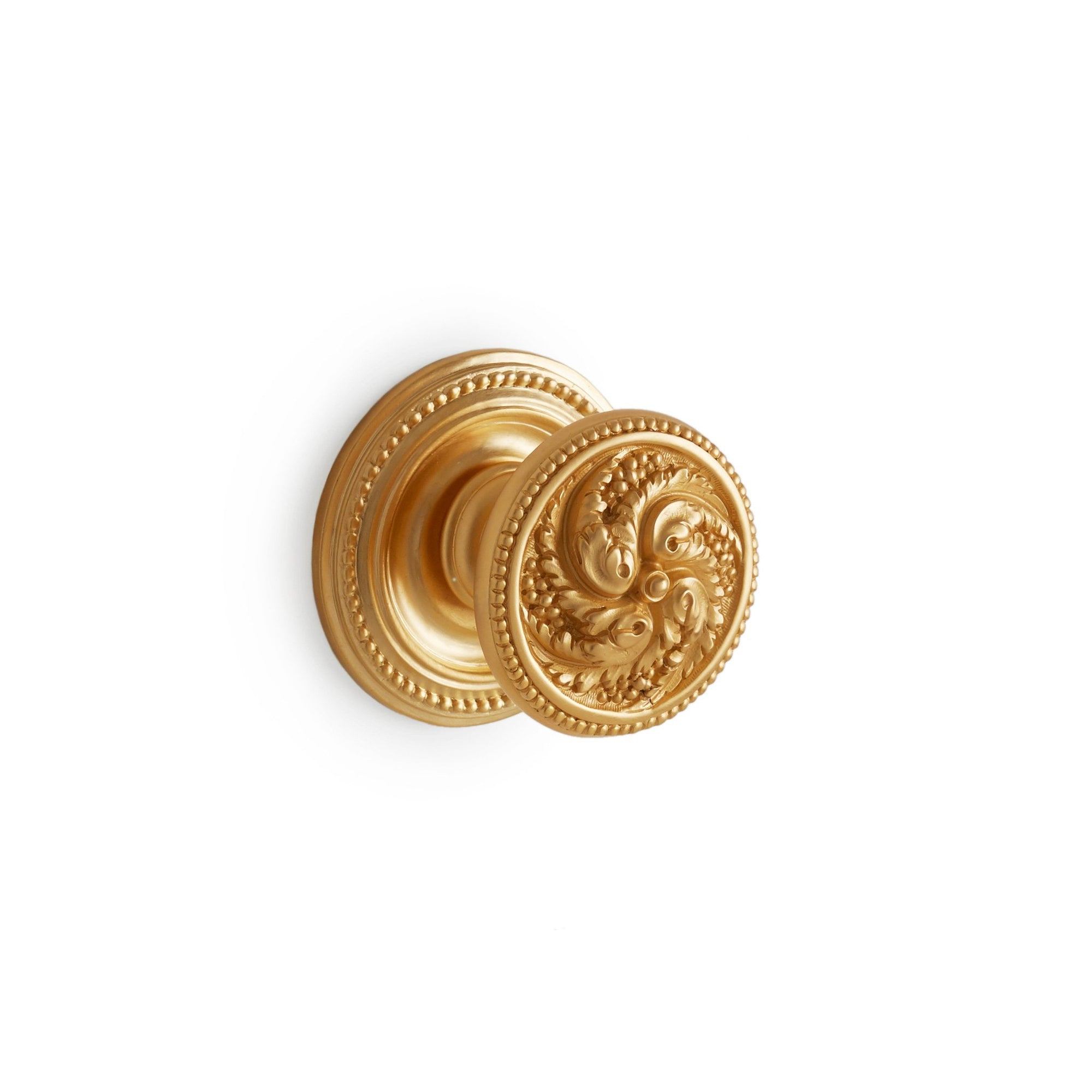 0079DOR-GP Sherle Wagner International Beaded Rococo Door Knob in Gold Plate metal finish
