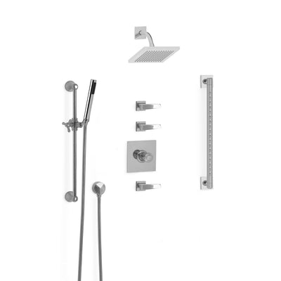 Sherle Wagner International Arco Modern High Flow Thermostatic Shower System in Polished Chrome metal finish