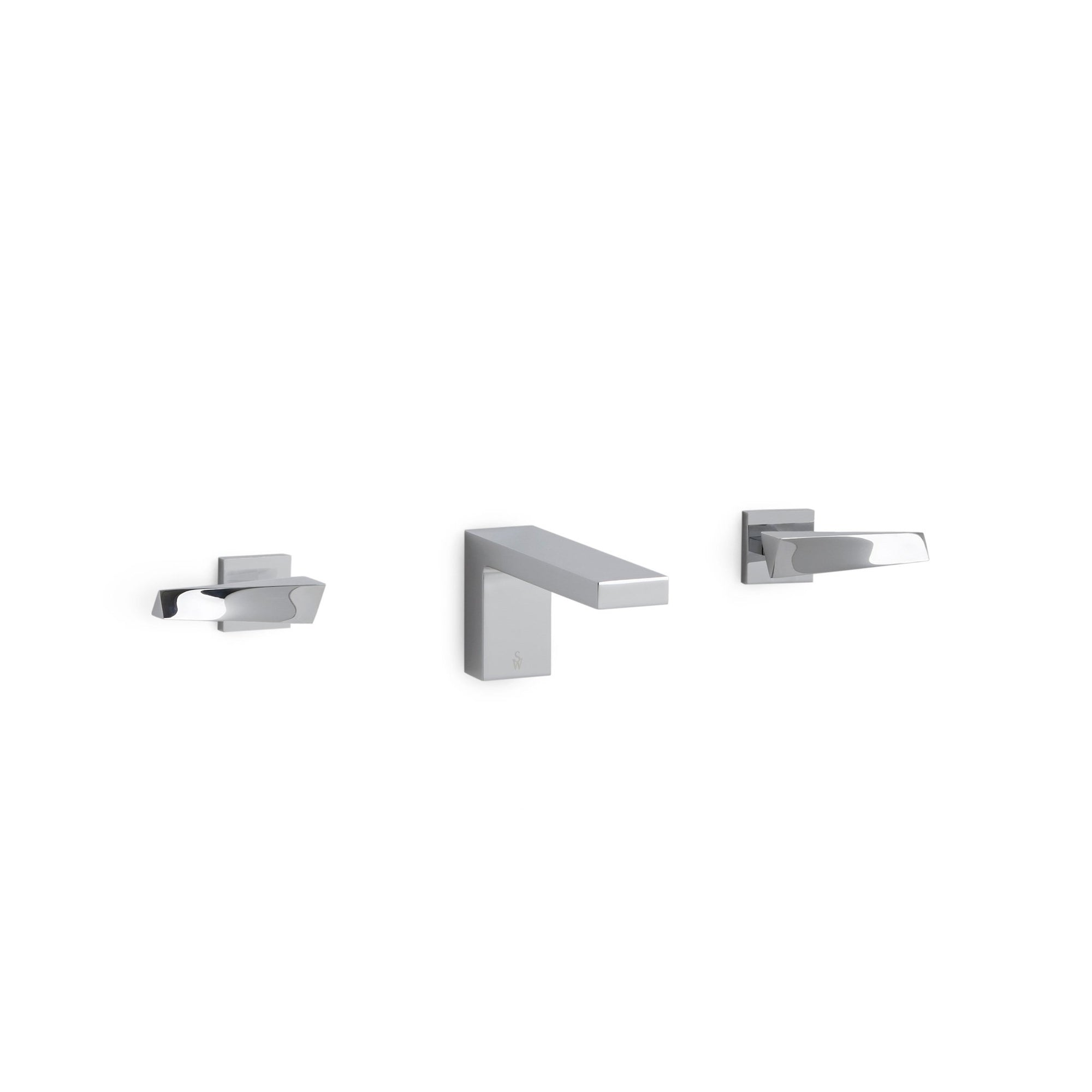 008WBS101-CP Sherle Wagner International Modern with Arco Lever Wall Mount Faucet Set in Polished Chrome metal finish
