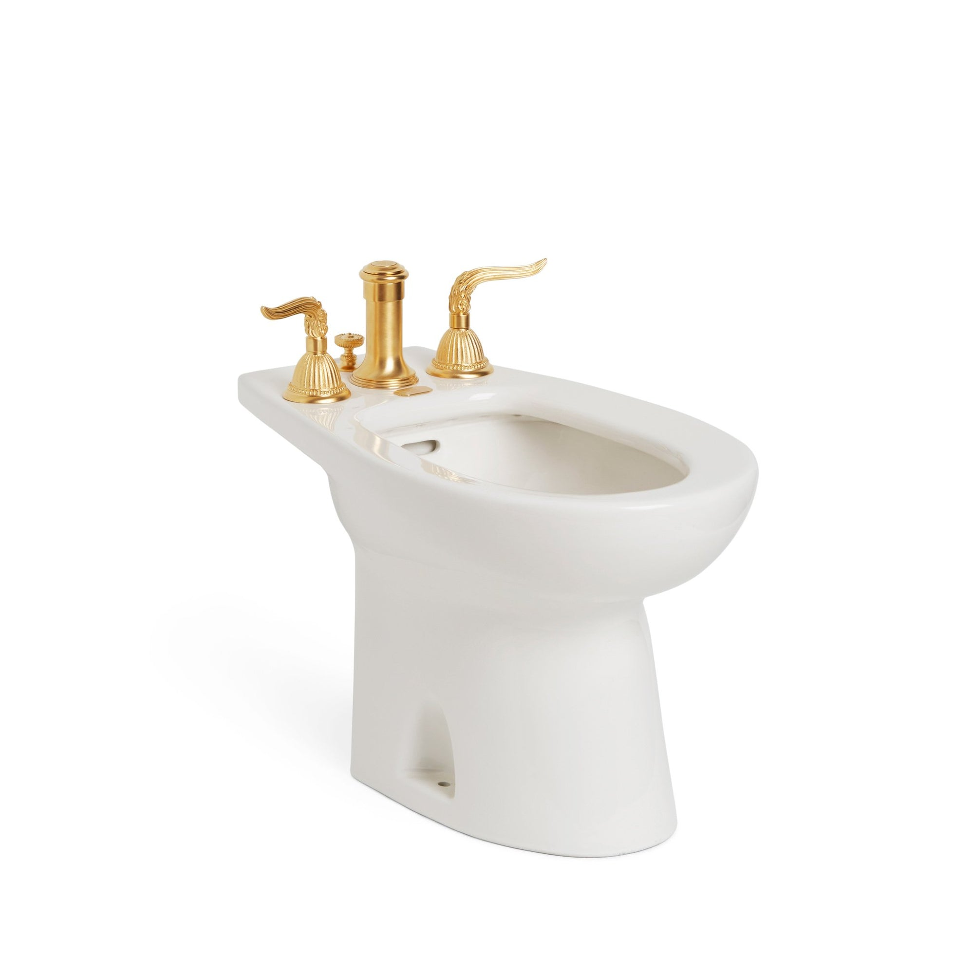 0235-T4-WHT Sherle Wagner International White Glazed Ceramic Bidet