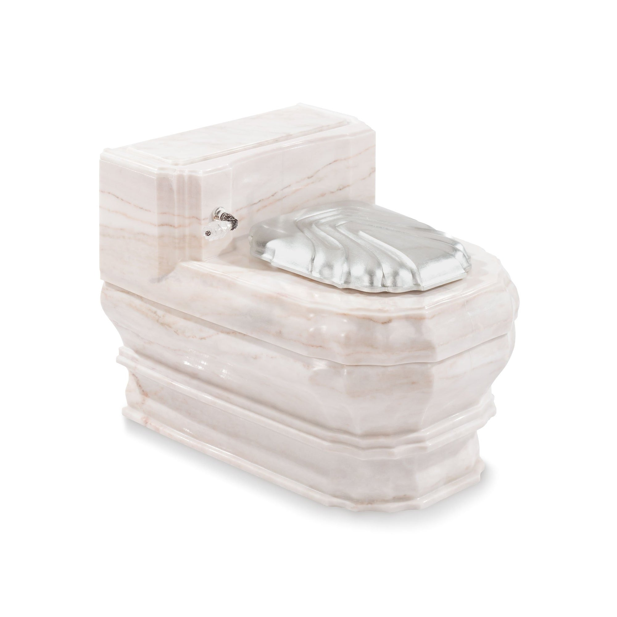0241WC-RSAU Sherle Wagner International Rose Aurora Georgian Toilet Casing Large