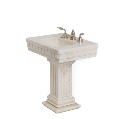 0287PED-RSAU Sherle Wagner International Rose Aurora Dentil Pedestal Side View