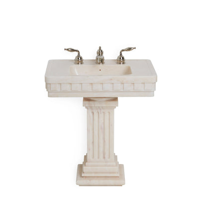 0287PED-RSAU Sherle Wagner International Rose Aurora Dentil Pedestal