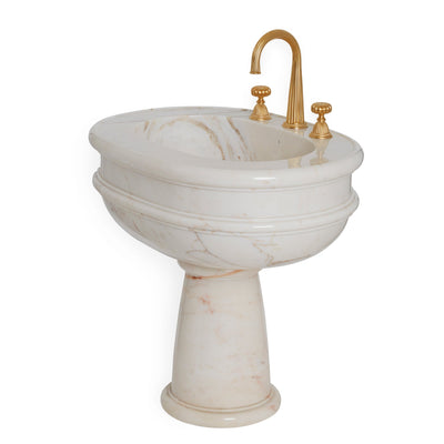 0292PED-L-RSAU Sherle Wagner International Rose Aurora Grecian Pedestal Large Side View