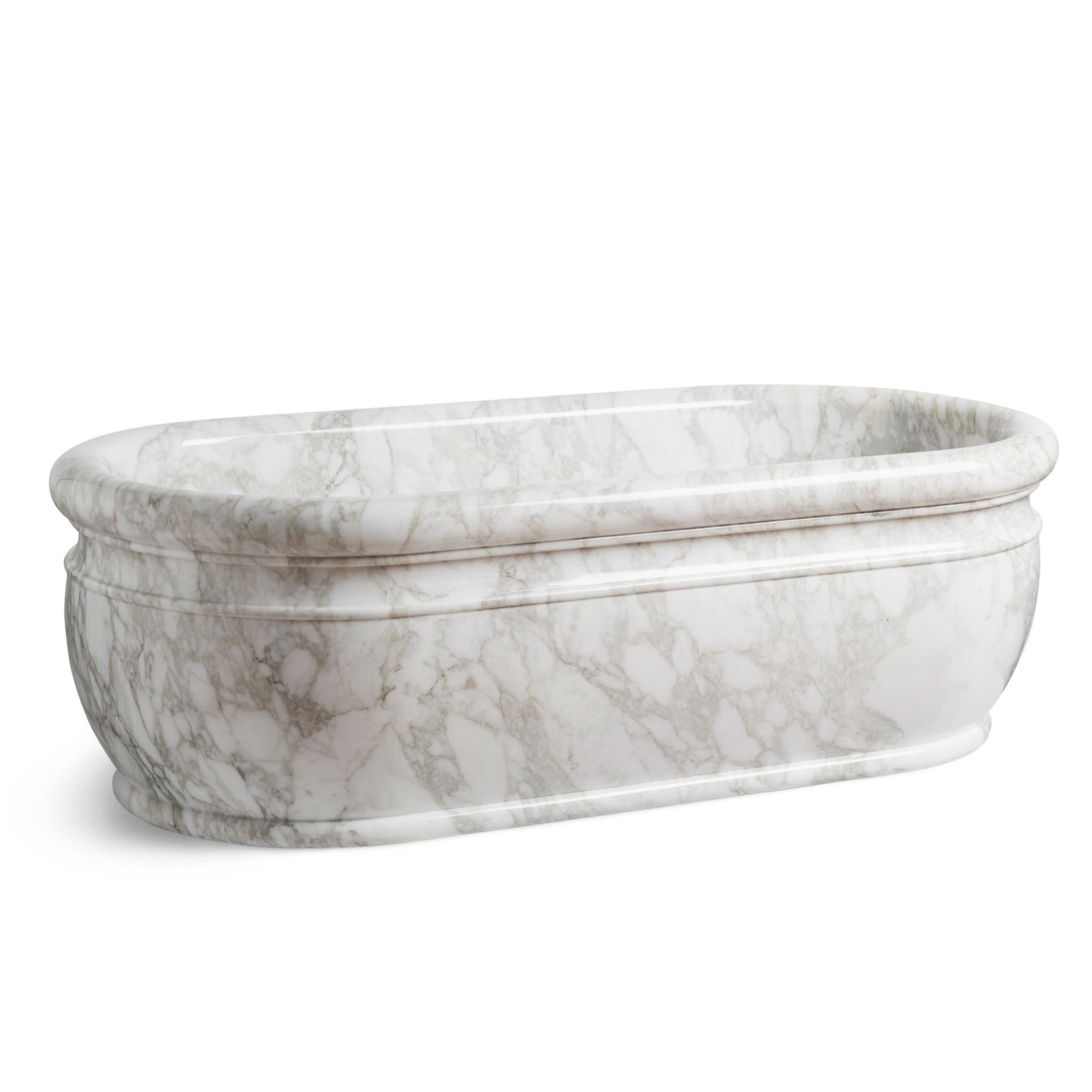 0292TUB-CALA Sherle Wagner International Calacatta Grecian Tub Large