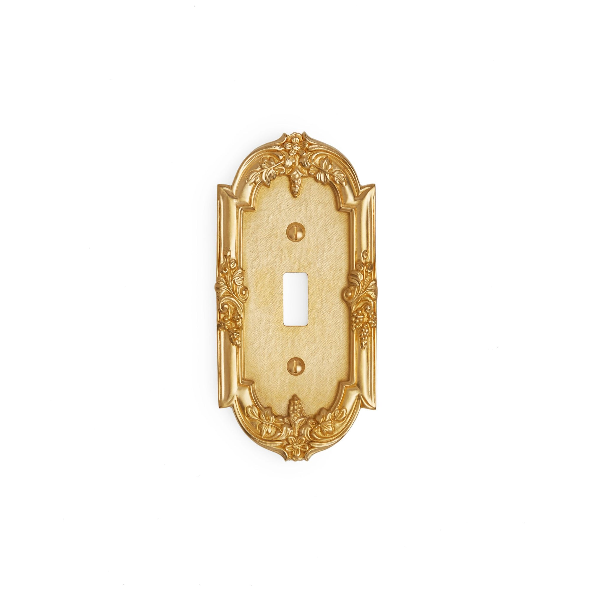 0458-SWT-GP Sherle Wagner International Grapes Single Switch Plate in Gold Plate metal finish