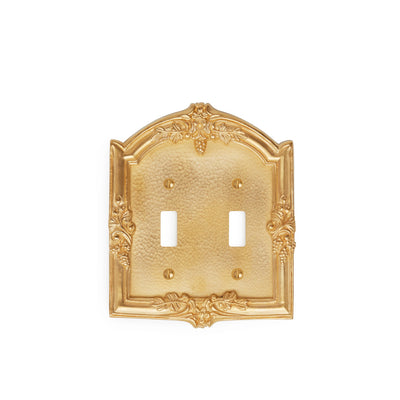 0458D-SWT-GP Sherle Wagner International Grapes Double Switch Plate in Gold Plate metal finish