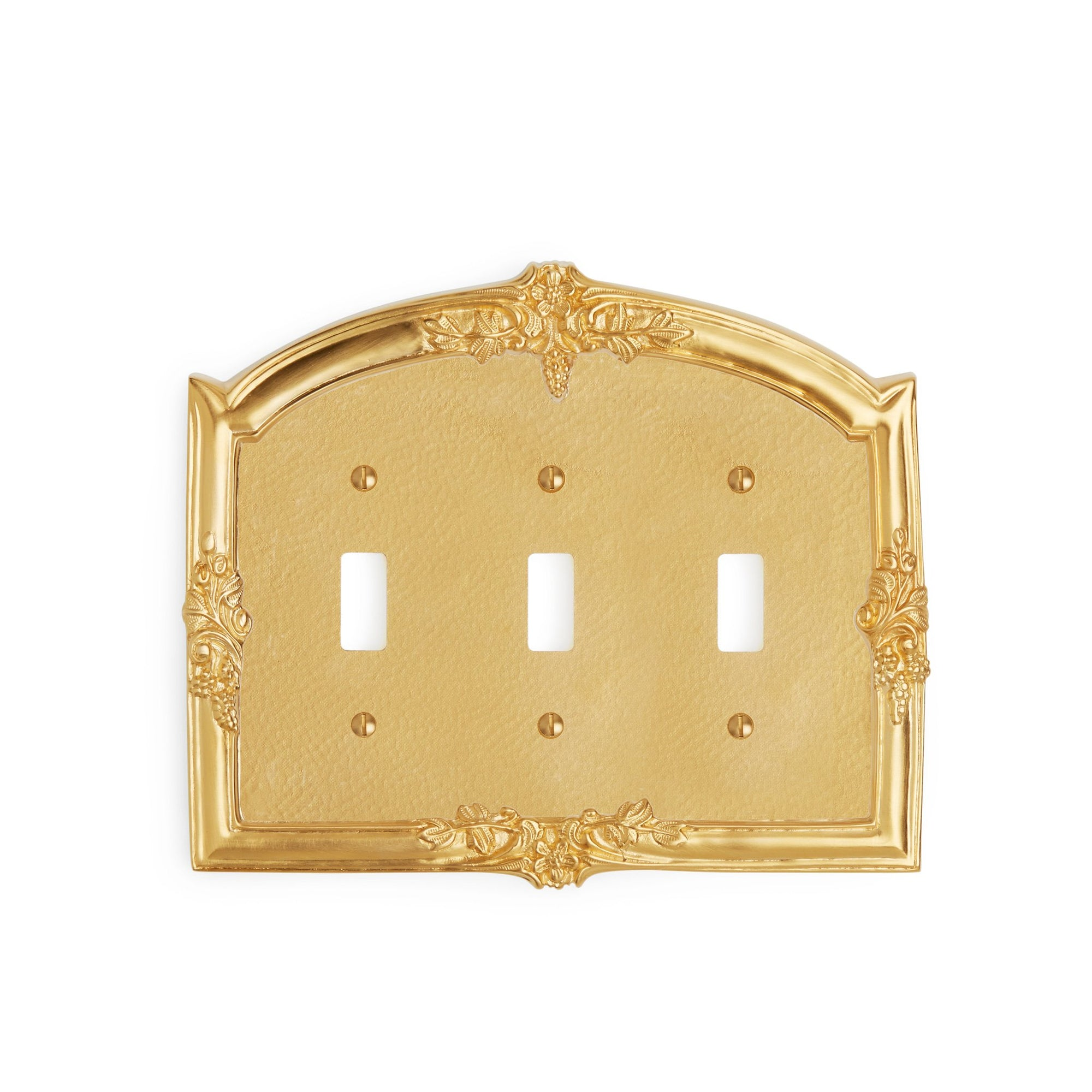 0458T-SWT-GP Sherle Wagner International Grapes Triple Switch Plate in Gold Plate metal finish