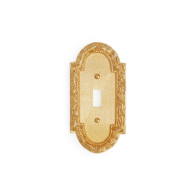 0459-SWT-GP Sherle Wagner International Acanthus Single Switch Plate in Gold Plate metal finish