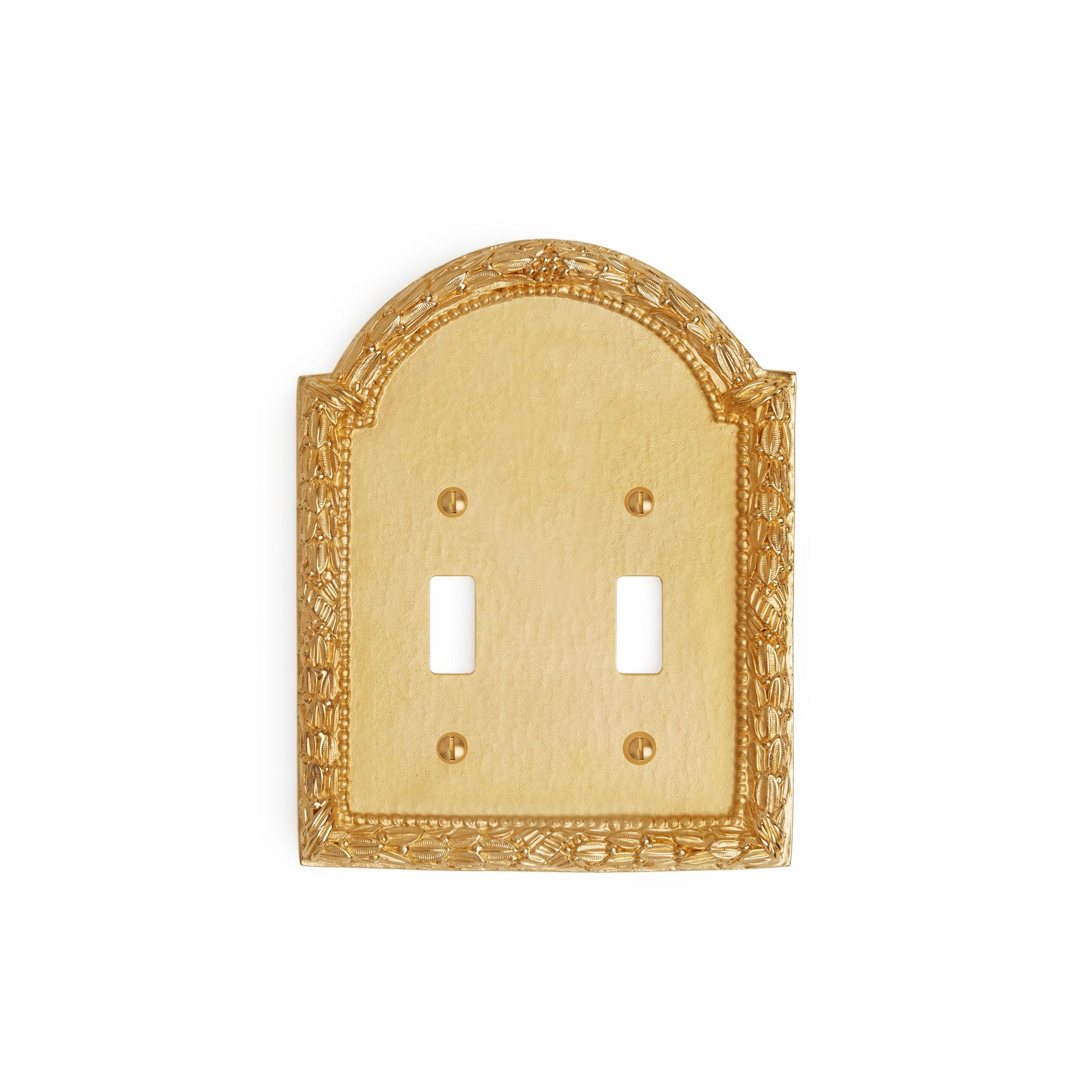 0459D-SWT-GP Sherle Wagner International Acanthus Double Switch Plate in Gold Plate metal finish