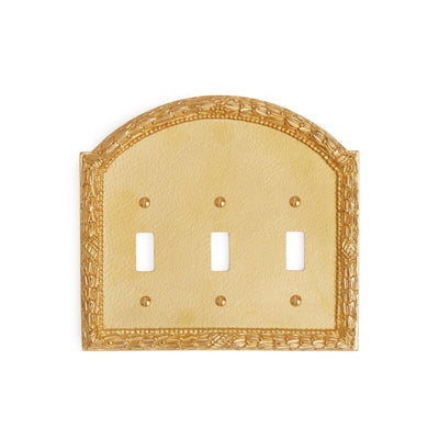 0459T-SWT-GP Sherle Wagner International Acanthus Triple Switch Plate in Gold Plate metal finish