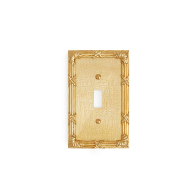 0460-SWT-GP Sherle Wagner International Ribbon & Reed Single Switch Plate in Gold Plate metal finish