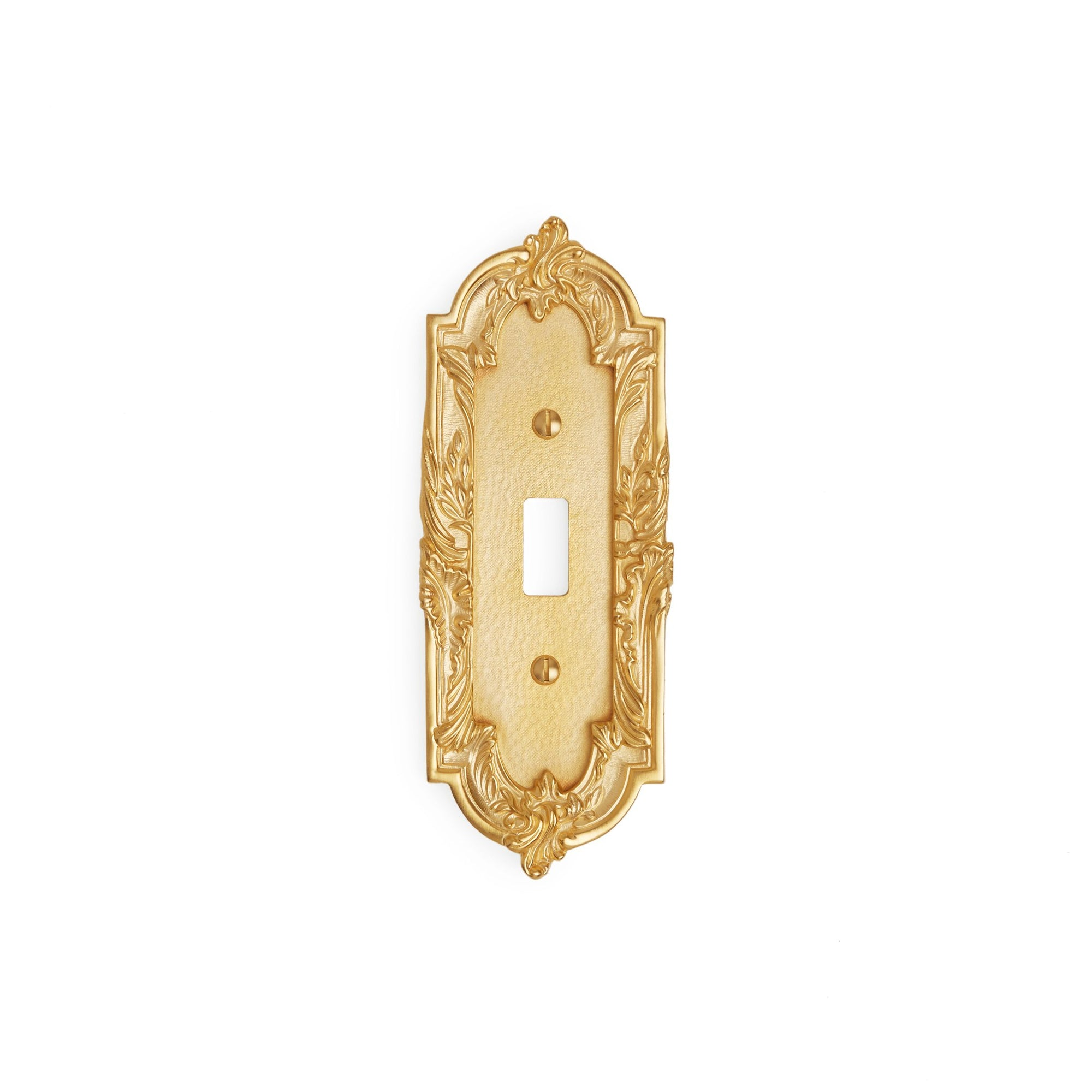 0463-SWT-GP Sherle Wagner International Rococo Single Switch Plate in Gold Plate metal finish