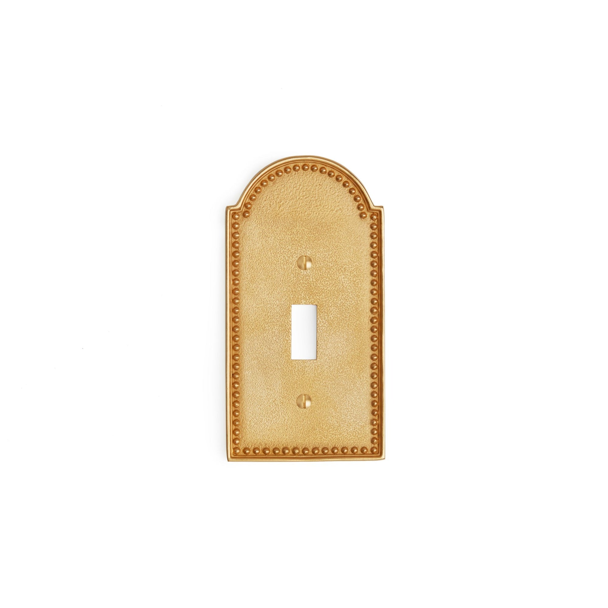 0464-SWT-GP Sherle Wagner International Beaded Single Switch Plate in Gold Plate metal finish