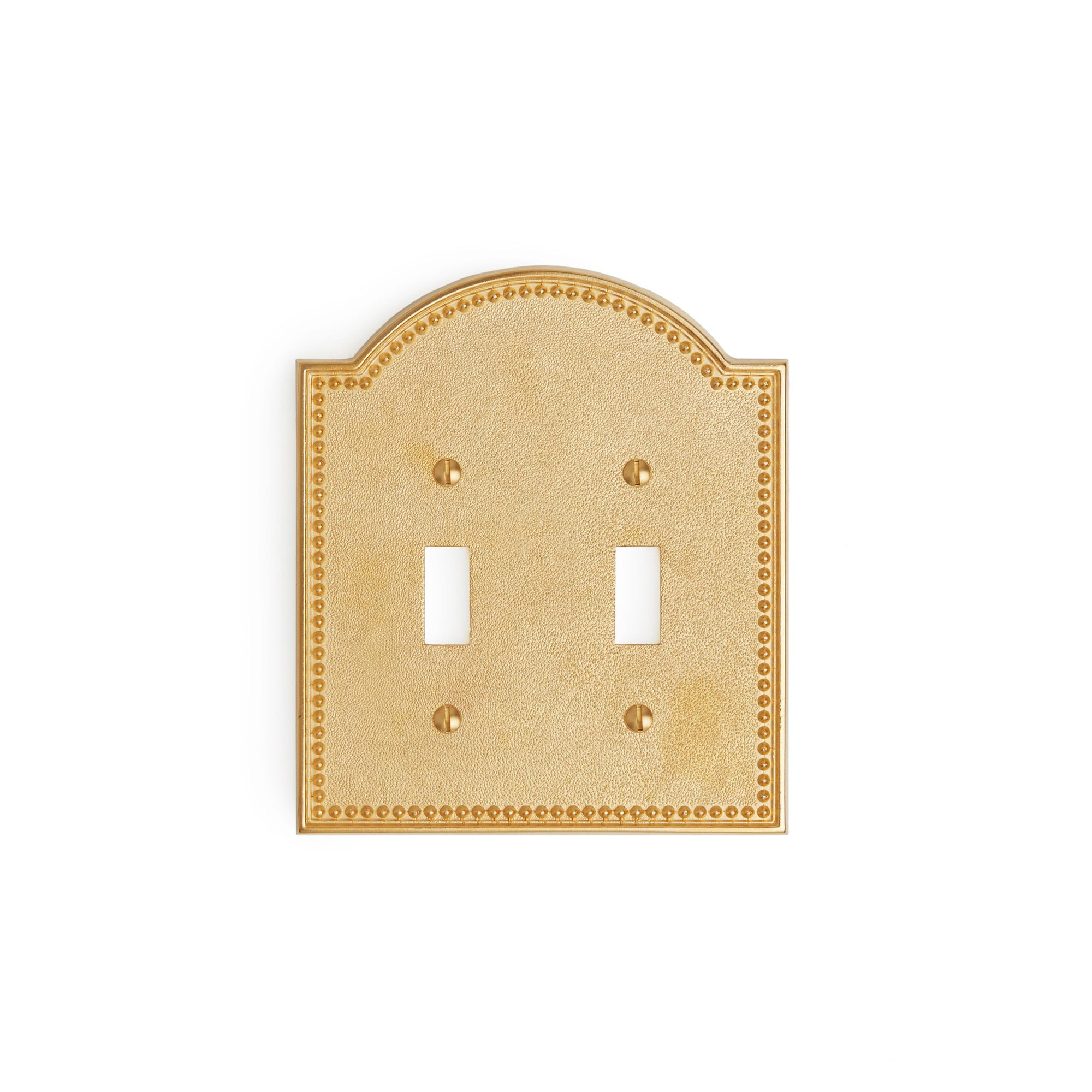 0464D-SWT-GP Sherle Wagner International Beaded Double Switch Plate in Gold Plate metal finish