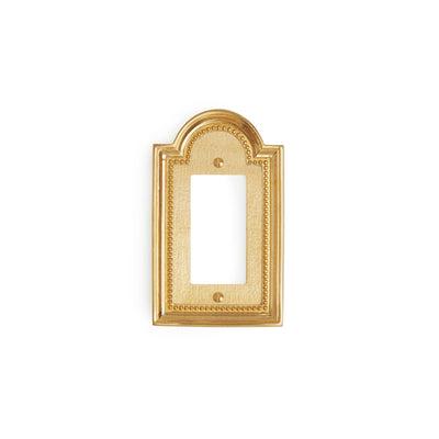 0470-DEC-GP Sherle Wagner International Classical Single Decora/GFI Plate in Gold Plate metal finish