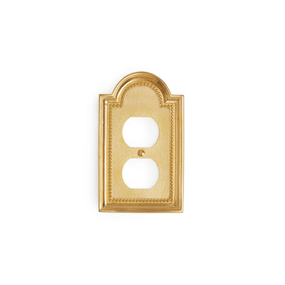 0470-PLG-GP Sherle Wagner International Classical Single Duplex Plug Plate in Gold Plate metal finish