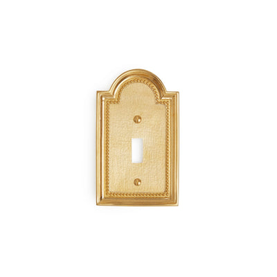 0470-SWT-GP Sherle Wagner International Classical Single Switch Plate in Gold Plate metal finish