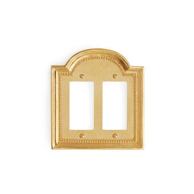 0470D-DEC-GP Sherle Wagner International Classical Double Decora/GFI Plate in Gold Plate metal finish